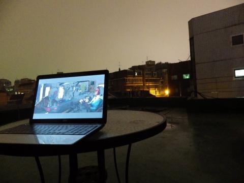 Rooftop movie night
